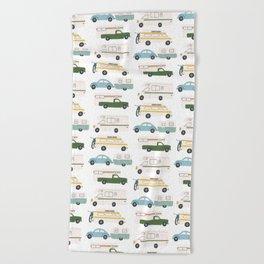 Vintage RV Motorhome Trailers Campers Beach Towel