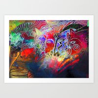 into the wild Art Prints featuring wild by KrisLeov