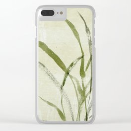 beach weeds Clear iPhone Case