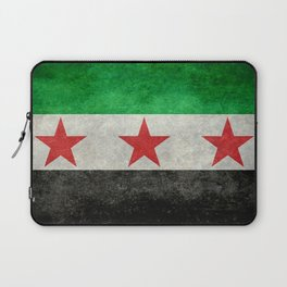 Independence flag of Syria, vintage retro style Laptop Sleeve