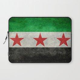 Independence flag of Syria, vintage retro style Laptop Sleeve