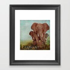 ABC Poster E - Elephant Framed Art Print