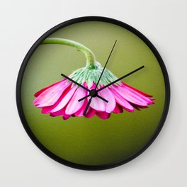 Flower | Flowers | Pink Green Drooping Flower Wall Clock