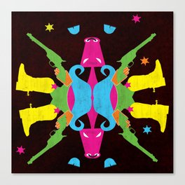Neon Cowboy Canvas Print