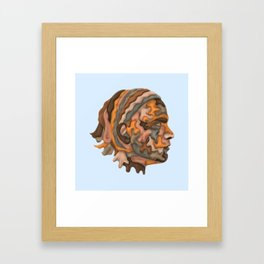 Self-portrait with Sheets Framed Art Print