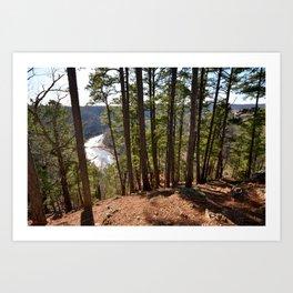 Climbing Up Sparrowhawk Mountain above the Illinois River, No. 7 of 8 Art Print