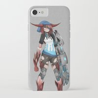 cyberpunk iPhone & iPod Cases featuring Cyberpunk Monster Girl by lazylogic