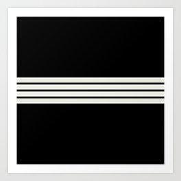 Classic White Stripes Art Print