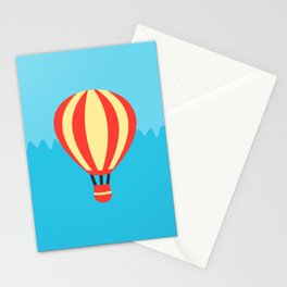 Classic Red and Yellow Hot Air Balloon Stationery Cards