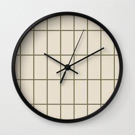 Back to Basics / Sand & Olive Grid Wall Clock