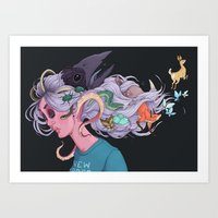 new order Art Prints featuring New order by Anna Nilsson