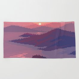 Heart island Beach Towel
