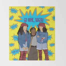 Go Home, Roger! By Vizzy Nakasso Throw Blanket