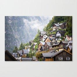 Vintage Fairytale Houses in Austrian Mountains Canvas Print