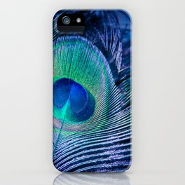 Peacock Feather Blush iPhone Case