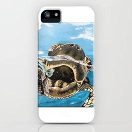 Sea Turtle By Noelle's Art Loft iPhone Case