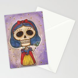 Blanca Nieves Day of the Dead Stationery Cards