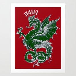 Italy Lover Italian Culture Italian American Dragon Gift Banner Art Print
