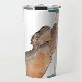 HippoCat at His Post Travel Mug