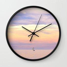 Setting Sails Wall Clock