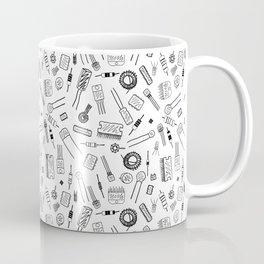 Circuit Components - Black on White Coffee Mug