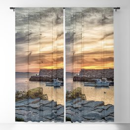 Lobster Trap sunset at lanes cove Blackout Curtain