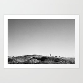 Moonwalking at Peggy's Cove Art Print
