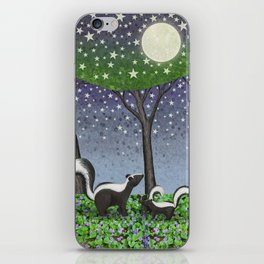 starlit striped skunks iPhone Skin