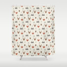 Minimalist Forest Animals Shower Curtain