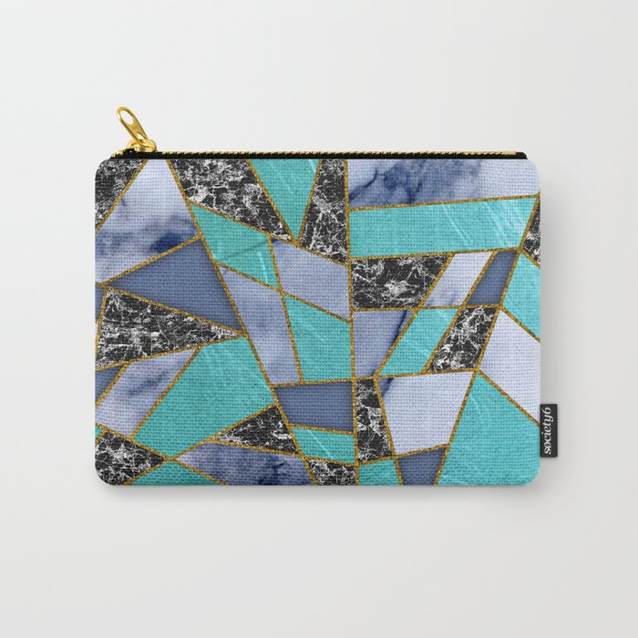 Abstract #457 Marble Shards Carry-All Pouch