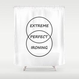 Extreme Ironing Shower Curtain