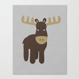 Edward the Moose Canvas Print