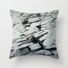 gray rock Throw Pillow