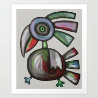 parrot Art Prints featuring Parrot by Rudolf Brancovsky