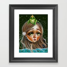 The Princess and the Frog Prince Framed Art Print