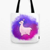 alpaca Tote Bags featuring Alpaca by Eriboo