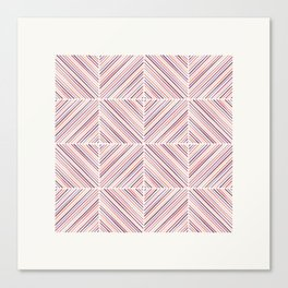 Herringbone Diamonds - Salmon Canvas Print