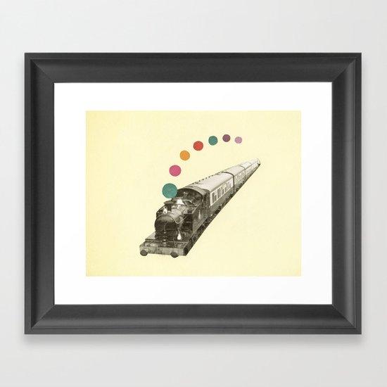 Rainbow Train Framed Art Print