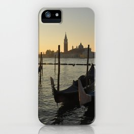 Gondolas waiting for the crowds iPhone Case