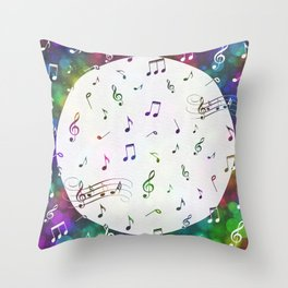 Music Multi 1 Throw Pillow