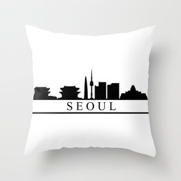 seoul skyline Throw Pillow