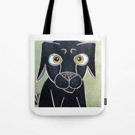 Sweet Black Dog Tote Bag