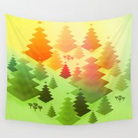 forrest Wall Tapestries featuring Forrest sunrise by Knightley