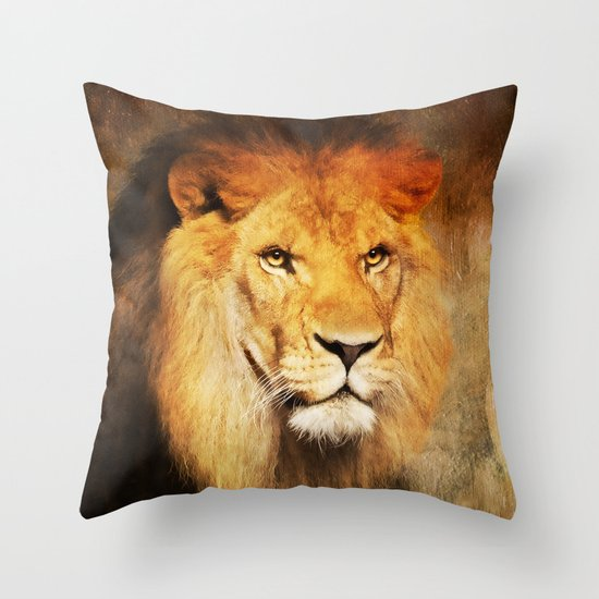 The King's Portrait Throw Pillow