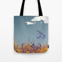 pigeon Tote Bags featuring pigeon by Shelby Claire