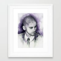zayn Framed Art Prints featuring zayn  by Seefirefly