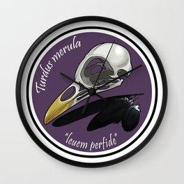 Turdus merula Wall Clock