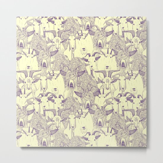 just goats purple cream Metal Print