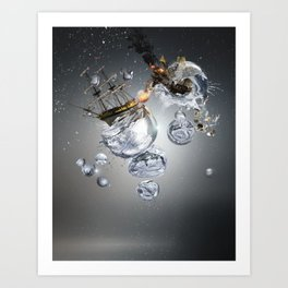 Bubble Battle Art Print