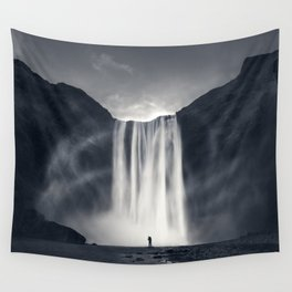 Stormy Skogafoss Wall Tapestry